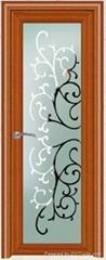 Aluminum single door room door interior door glass door toilet door