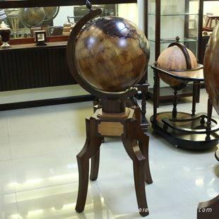 Woden crafts products wood globe Home Decoration and Furnishings american style  1