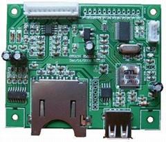 USB and CF card MP3/WMA decoder OTG13V