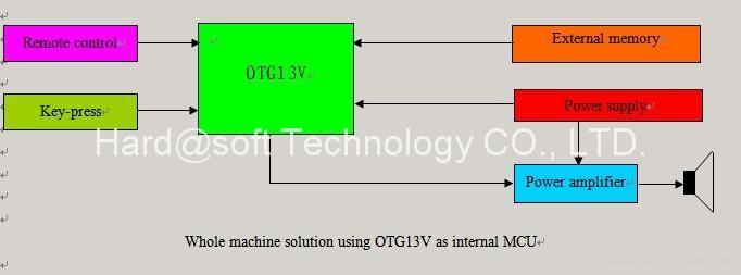 USB and CF card MP3/WMA decoder OTG13V 3