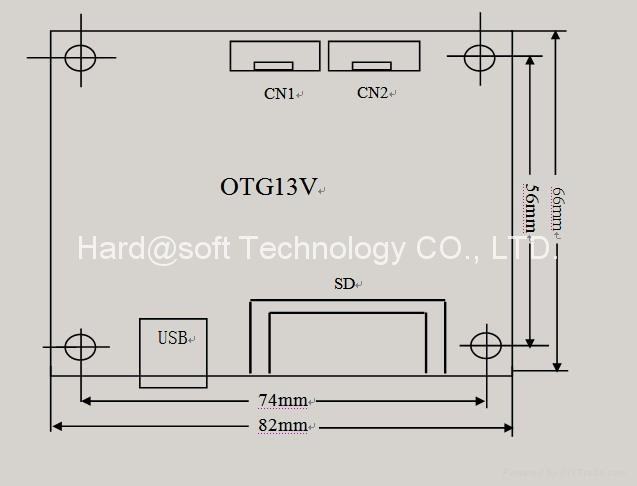 USB and CF card MP3/WMA decoder OTG13V 5