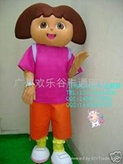 欢乐谷卡通人偶服装