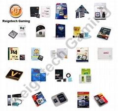 R4(i) SDHC, M3(i), DSTT(i), AK2(i), R4i RTS, iEDGE, DS ONE i, R4i Gold, HyperR4i