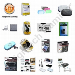 PSP GO, PSP3000, PSP2000, PSP AV cable, car charger, game pouch, AC adaptor etc