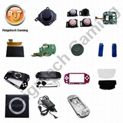PSP GO, PSP3000, PSP2000, PSP LCD screen, joystick, housing, battery cover, UMD