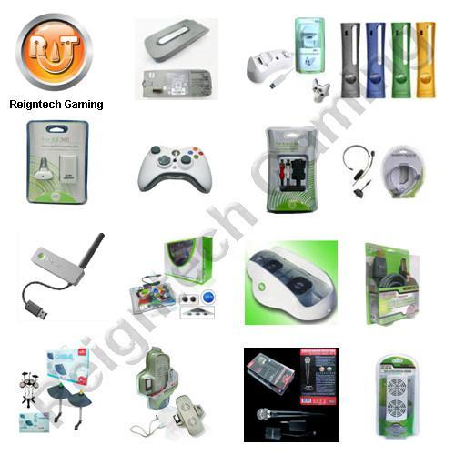 XBOX360 HDD 120GB, wireless controller, VGA cable, earphone, network adaptor 1