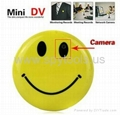 Smile Face Pin Mini Digital Video Recorder Spy Camera+MP3 with TV Out