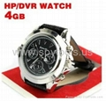 4GB HD 1280 x 960 Leather Band Spy Metal Watch Camera Camcorder DVR Digital Vide