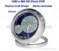 CMOS HD Spy Clock Camera with Motion Detector