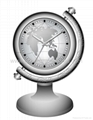 table clock hidden camera with worldmap
