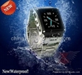 Waterproof Watch Mobile Phone W818 Watchphone Quad-Band Cell Phone Stainless Ste