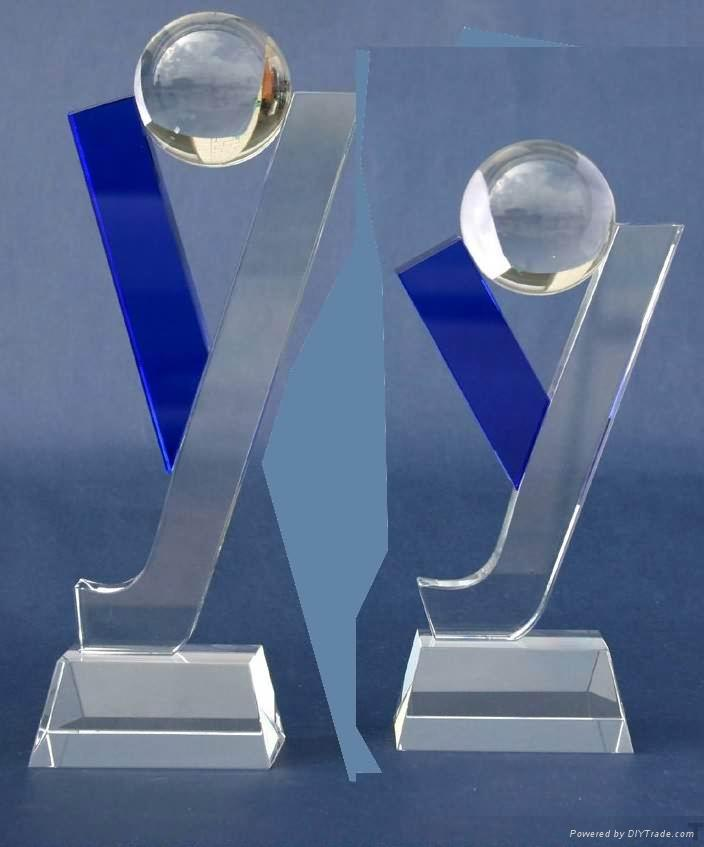 授權牌水晶獎杯 1