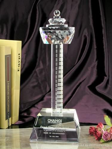 授權牌水晶獎杯 3