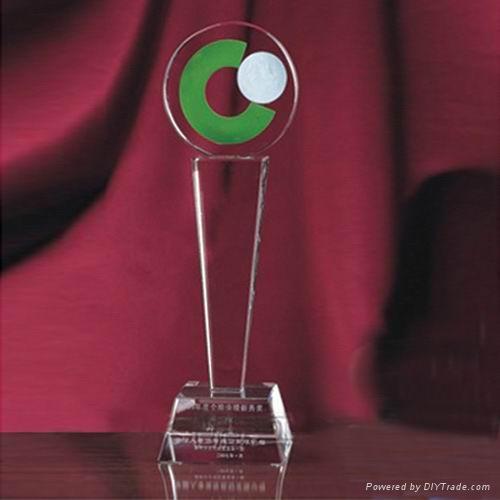 授權牌水晶獎杯 5