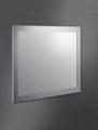 亮面不锈钢包边浴室镜 3