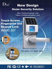 Touch screen biometric fingerprint lock  & keypad lock
