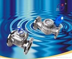 耐腐蝕不鏽鋼水表LXS-65E法蘭連接