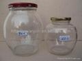 Round Shape Glass Jar