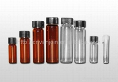 Amber And Clear Glass Vials