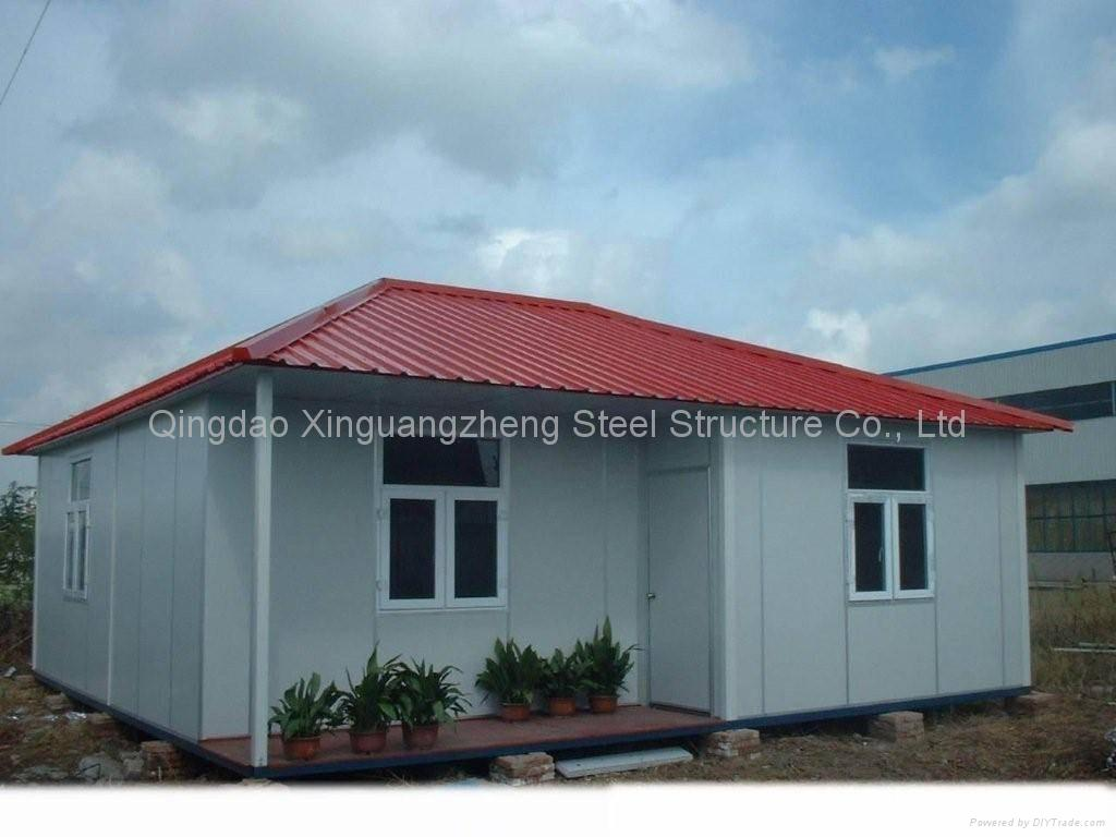 Prefabricated house modular homes steel structure mobile for Steel prefab house