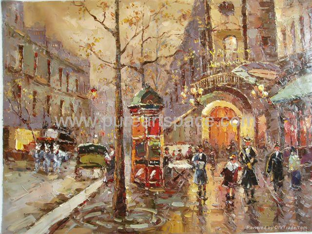 paris street oil paintings knife oil paintings pure art space china manufacturer paintings. Black Bedroom Furniture Sets. Home Design Ideas