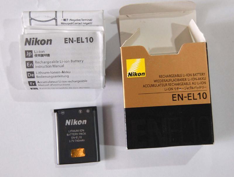 EN-EL10 ENEL10 Battery for Nikon Coolpix S200 S210 S500 S510 1 ...