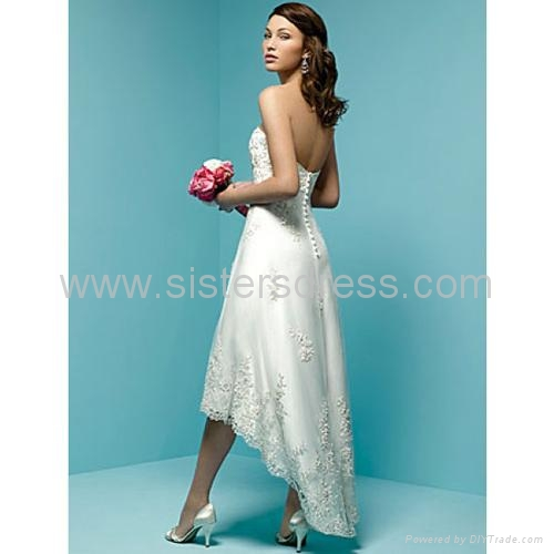 Teal Wedding Dresses That Are Short in Front and Long in the Back