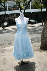 Ready To ship US size 6,8 Ball Gown Sweetheart Light Blue Homecoming Dress