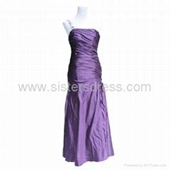 US size 6 Fishtail One shoulder Charmeuse Prom Dress