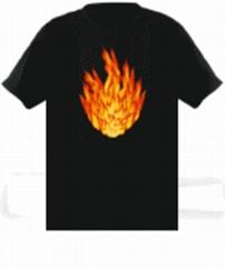 EL声控发光T恤
