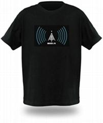 EL信号感应闪光T恤