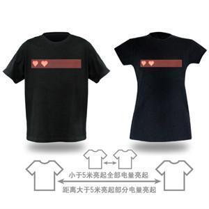 情侣感应发光T恤 2