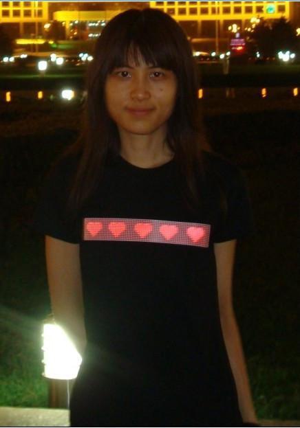 情侣感应发光T恤 4