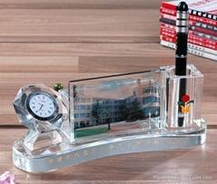 广州年终年会庆典活动领导贵宾研讨会水晶笔筒办公摆件礼品