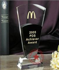 黑色水晶系列年终优秀经销商奖牌