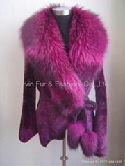 MERINO coat with reccon  collar