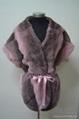 Chinchilla Fur sleeveless coat