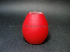 handblown glass lamp shade in cased red color.