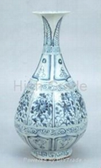 Antique imitation Underglaze Blue Bottle Vase