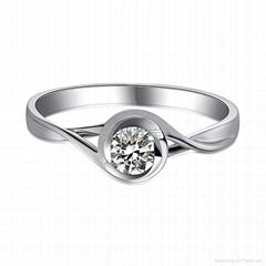 18k金鑽石戒指