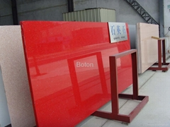 Stella Red Engineering Quartz Stone with Mirror Flecks for Countertop/ Benchtop