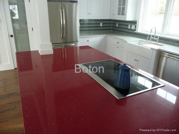Red Countertop Materials : Stella Red Engineering Quartz Stone with Mirror Flecks for Countertop ...