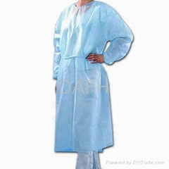 Non woven isolation gown CE FDA ISO approved hospital use manufacture