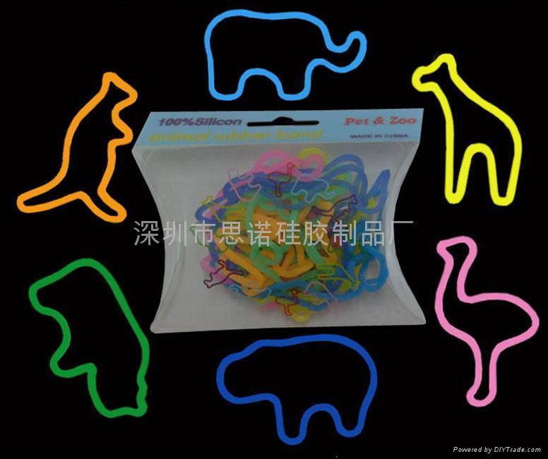 动物型硅胶橡皮筋 2