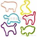 动物型硅胶橡皮筋 4