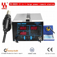 SMD soldering station,YIHUA 892D+(diaphragm pump)