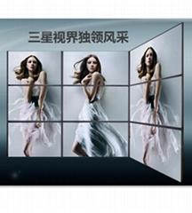 山东青岛55寸超窄边电视墙