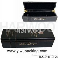 單支黑色皮革葡萄酒盒