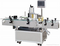 Automatic fixed-point symmetric round label machine