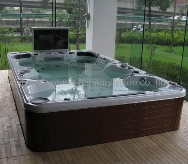 new hot tub jacuzzi outdoor spa for 10 persons sr 851 sunrans china manufacturer bathtub. Black Bedroom Furniture Sets. Home Design Ideas